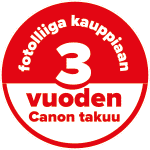Canon - 3 vuoden takuu